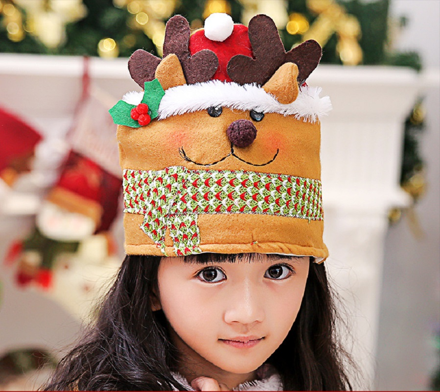 Christmas Kids Hat Xmas Party Cap for Children 6 Styles New Year Christmas Gift for Kid Kids Child Children Hat Caps