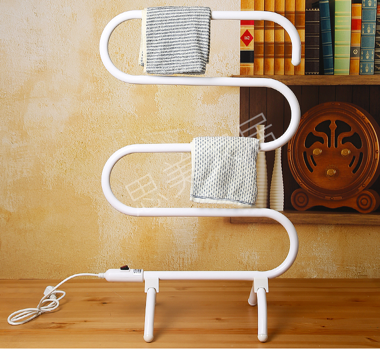 2017 New Arrival Electric Towel Cloth Dryer 100W Alloy Aluminum Towel Rack Floor Standing Sterilization Bath Towel Drying Rack shanghai kuaiqin kq 5 multifunctional shoes dryer w deodorization sterilization drying warmth