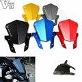 Motocicleta brisas nueva aluminio moto de la motocicleta parabrisas parabrisas negro parágrafo para yamaha mt-07 mt 2013 2014 2015
