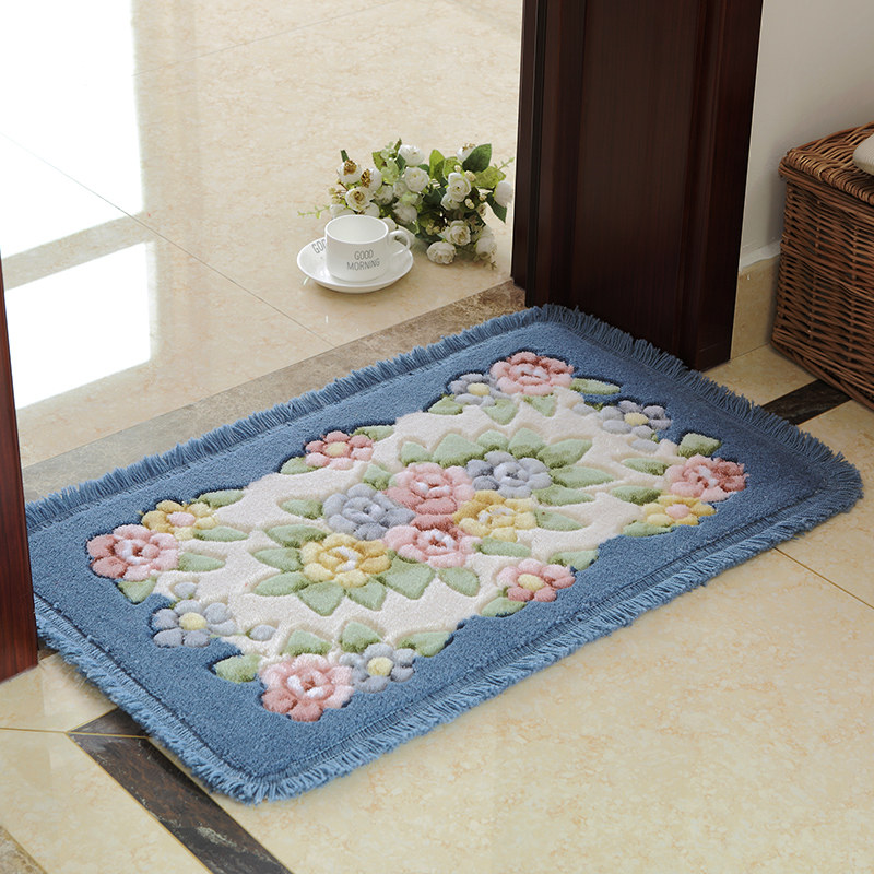 flower printing classic bathroom carpet mat rug 1 pcs antislip floor bath mat - Bathroom Carpet