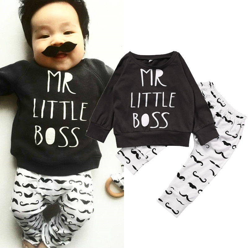 8cb910f5 Children Kids Bboys Clothing Newborn Toddler Baby Boy Kid Clothes T-shirt  Hoodie Tops Long Pants Outfit Set