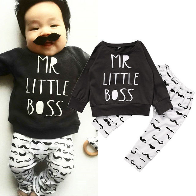 Children Kids Bboys Clothing Newborn Toddler Baby Boy Kid Clothes T-shirt Hoodie Tops  Long Pants Outfit Set
