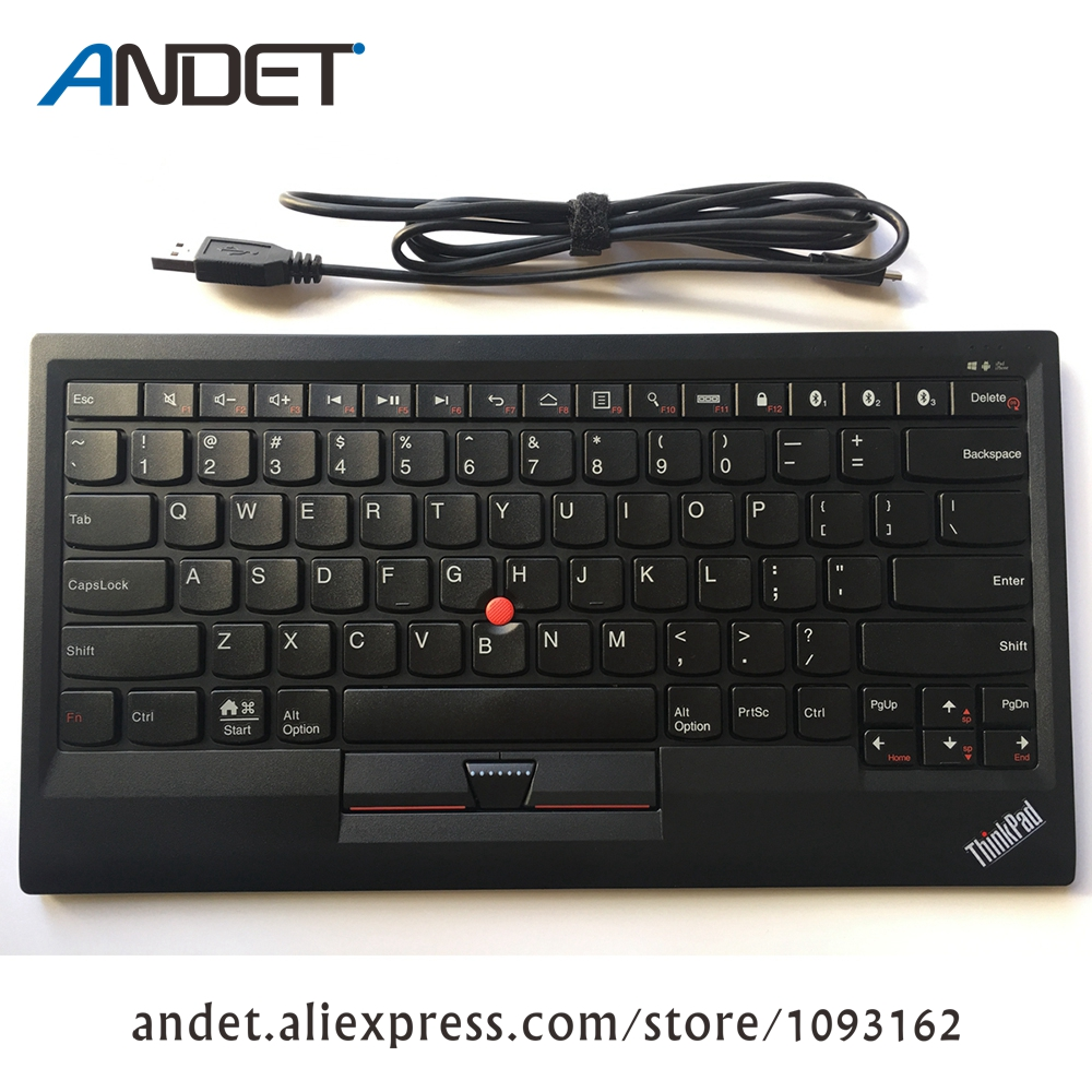 4X30K12182 New Original Lenovo ThinkPad Bluetooth Keyboard Support Window Android IOS Multi Connect Trackpoint US English USB neworig keyboard bezel palmrest cover lenovo thinkpad t540p w54 touchpad without fingerprint 04x5544