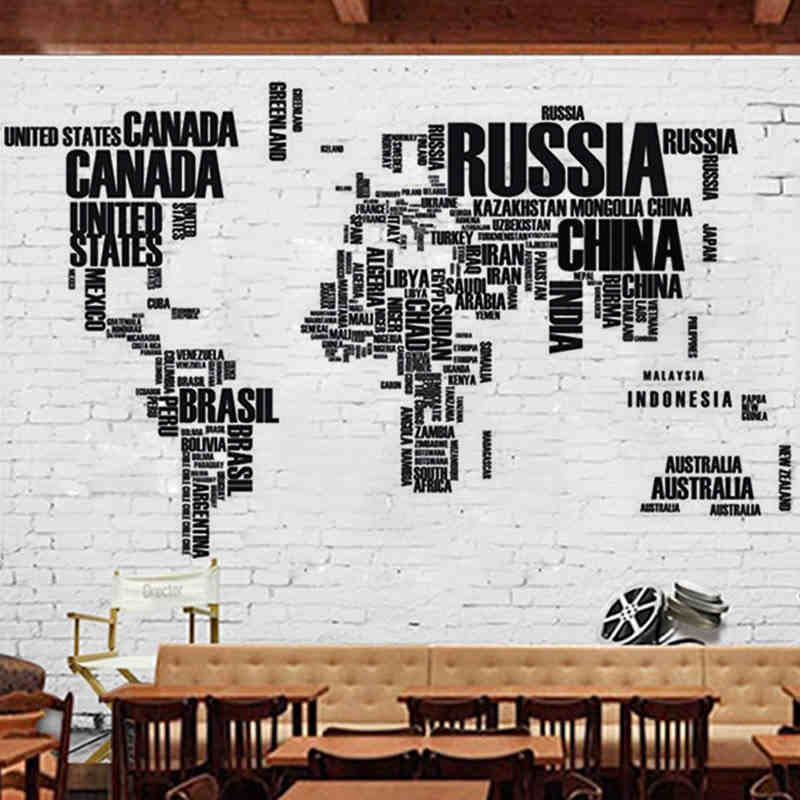 Colorful Letters World Map Wall Stickers Living Room Office Home Decorations 035 Diy Creative Pvc Decal Mural Art Baby Gift 3 0