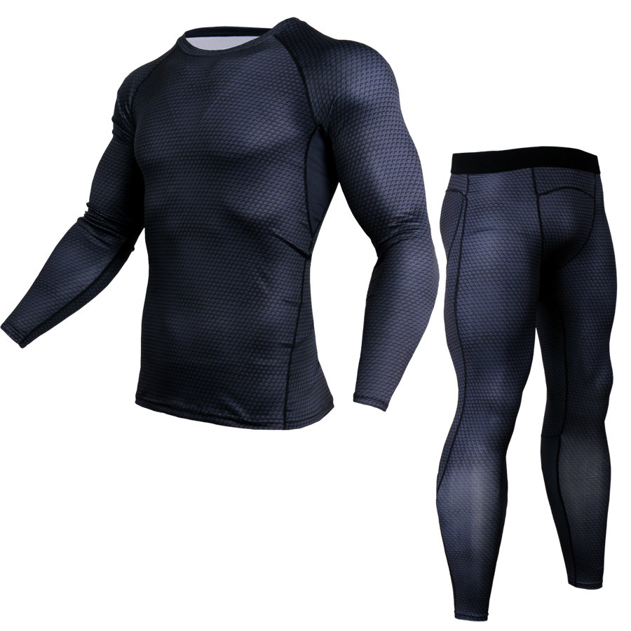 Men's Compression Shirts Bodybuilding Skin Tight Jerseys Clothing MMA  Cycling Exercise Workout Fitness Sport Base Layer
