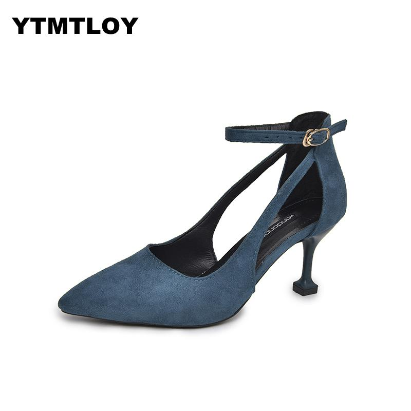 Fashion Sexy Hollow With Sandals Summer Korean Version Of The Thin Breathable Women Pumps High Heeled Shoes Female  Ankle StrapFashion Sexy Hollow With Sandals Summer Korean Version Of The Thin Breathable Women Pumps High Heeled Shoes Female  Ankle Strap