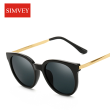 Simvey 2017 Fashion Cat Eye Sunglasses Women Retro Brand Designer Alloy Frame Sun Glasses Luxury Shades New Style UV400