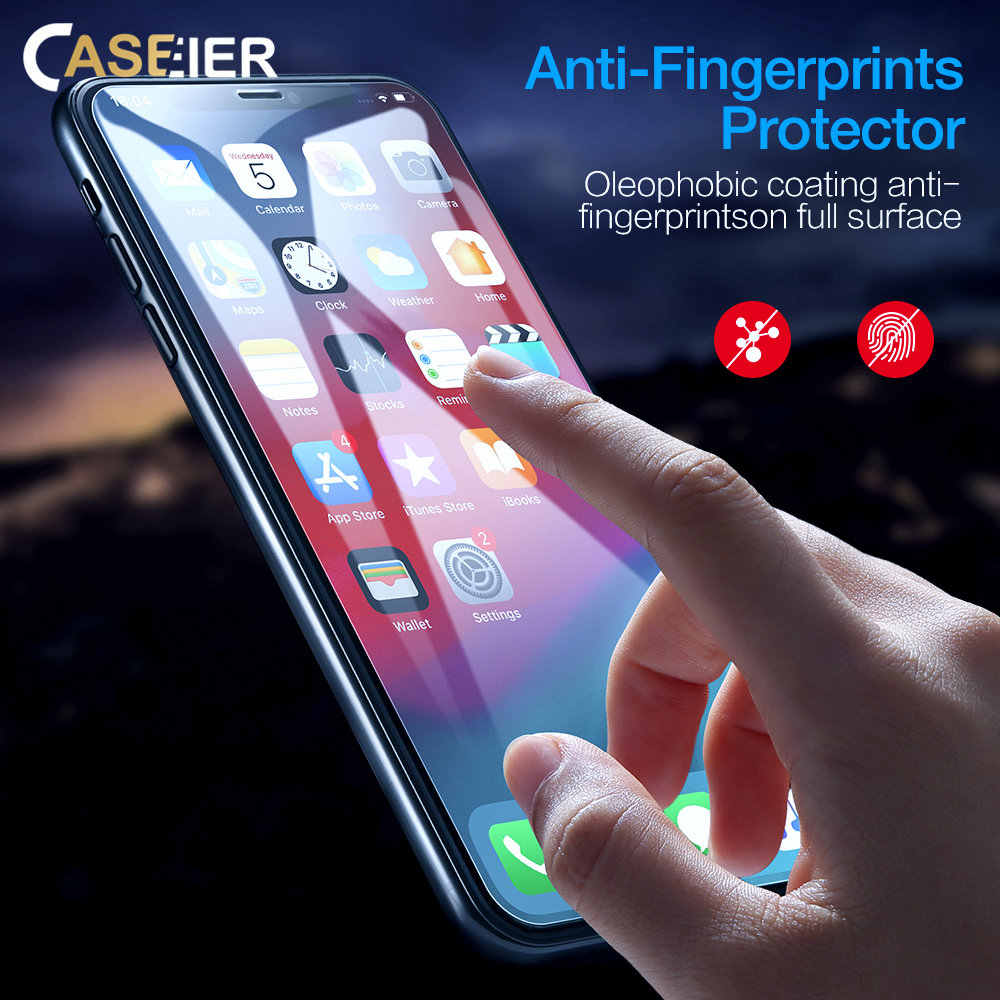 CASEIER HD Tempered Glass For iPhoneX XS MAX XR Protective Glass For iPhone X XS Max XR 8 7 6 6S 5S Screen Protector