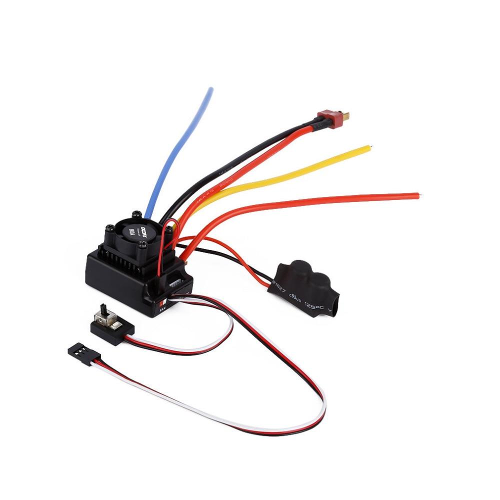 1pcs OCDAY 1/10 80A Adjustable Sensored/Sensorless Brushless ESC For Car Truck ocday 1pc brushless 120a esc 120a sensored brushless speed controller for 1 8 1 10 car truck crawler new sale