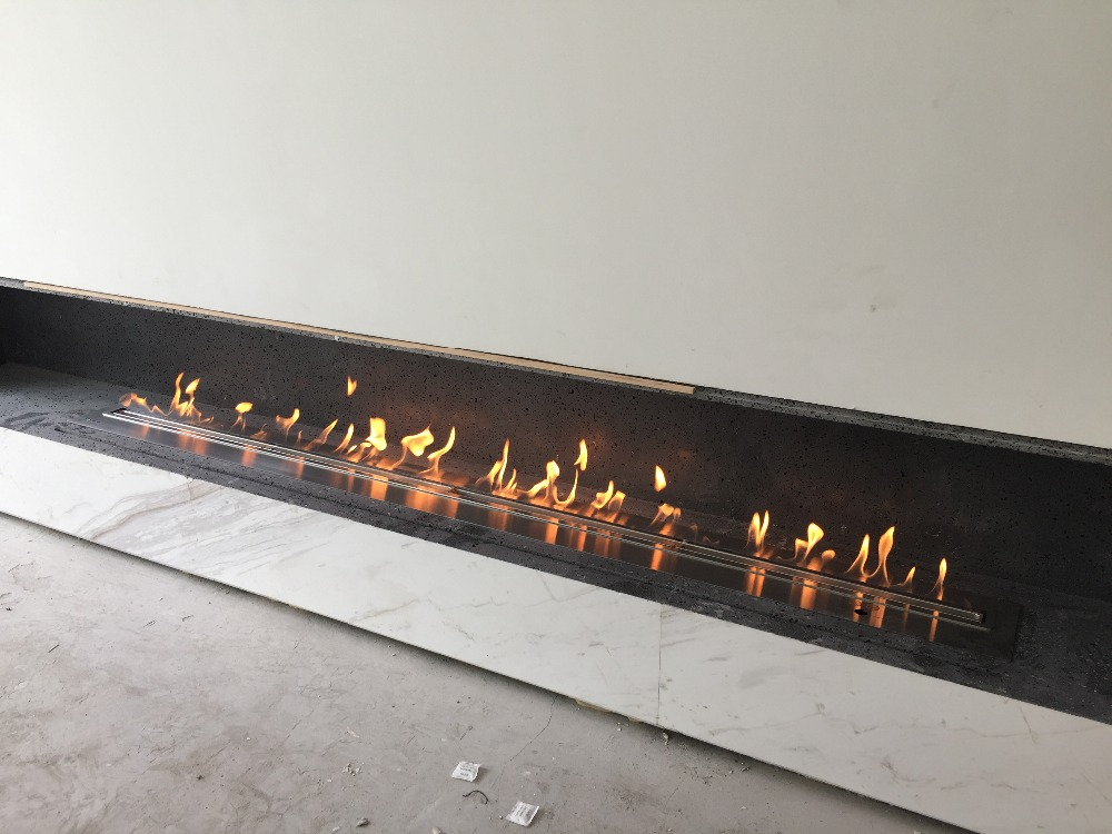 60 Inch Silver Or Black Real Fire  Intelligent Auto Bio Ethanol Fireplace