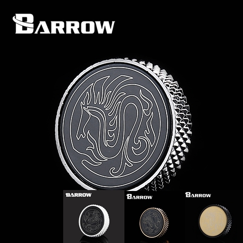 """Barrow TBJDT-V1 White Black Silver Gold G1 / 4 """" Special Edition  Hand tighten water stop Water cooling fitting"""