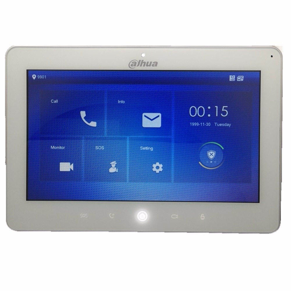 Ahua Multi-Lingua VTH5241DW-CW 10 pollici video citofono touch screen a Colori Monitor Dell'interno, 1MP macchina fotografica, WIFI collegare