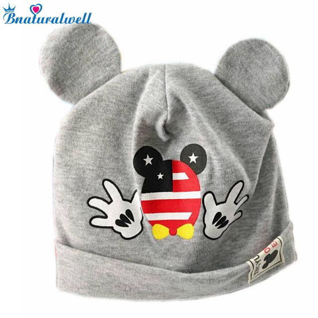 Bnaturalwell Mignon Belle Souris Garçons Filles Casquettes Bébé Coton  Beanie chapeau Infantile Tricoté chapeau Nouveau- a63ca392266