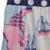 Estilo del verano Niña Vestido de la Honda de Diseño EE. UU. Mapa de Viaje Patchwork Dobladillo de La Colmena de Punto Pecho Button Decorared Kids Clothes DX005