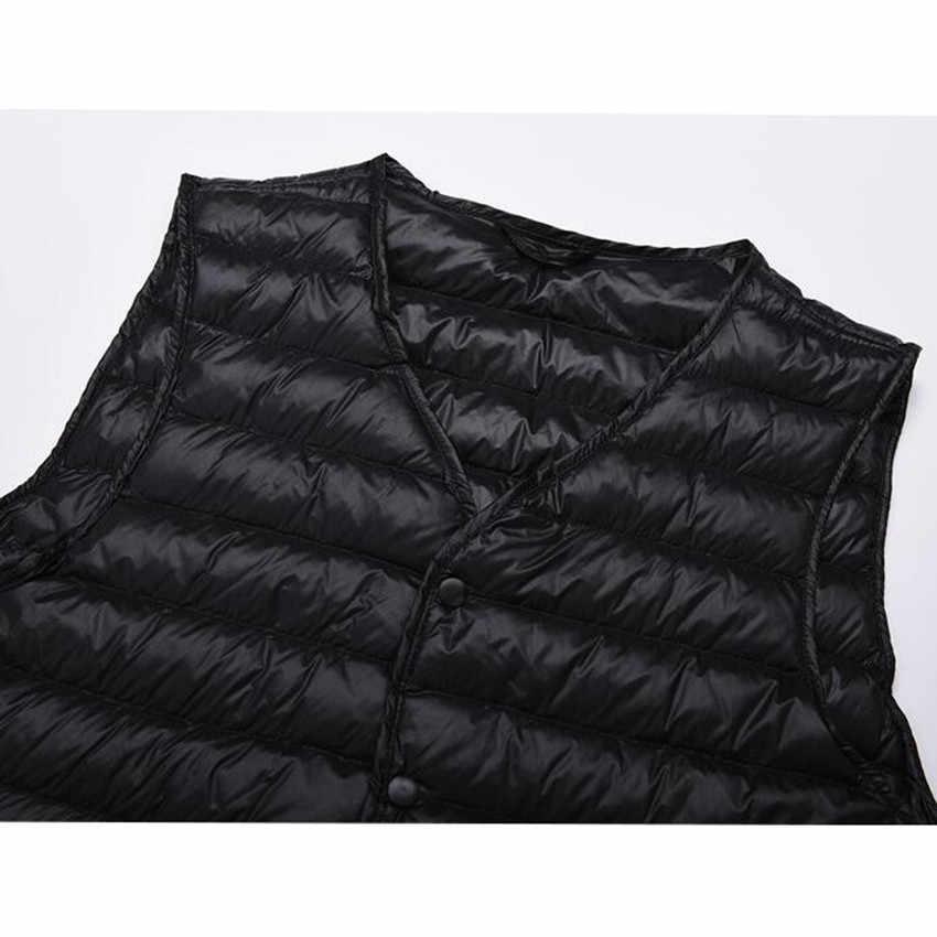 2017 новые осенние зимние мужские Ультра-легкие пуховые жилеты s куртка белый пуховик пальто облегающий жилет мужская безрукавка AB642