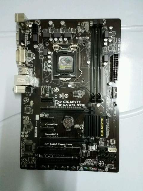 Original Motherboard For Gigabyte GA-B75-DS3V DDR3 LGA 1155 16GB B75-DS3V For I3 I5 I7 22/23nm Cpu B75 Desktop Motherboard