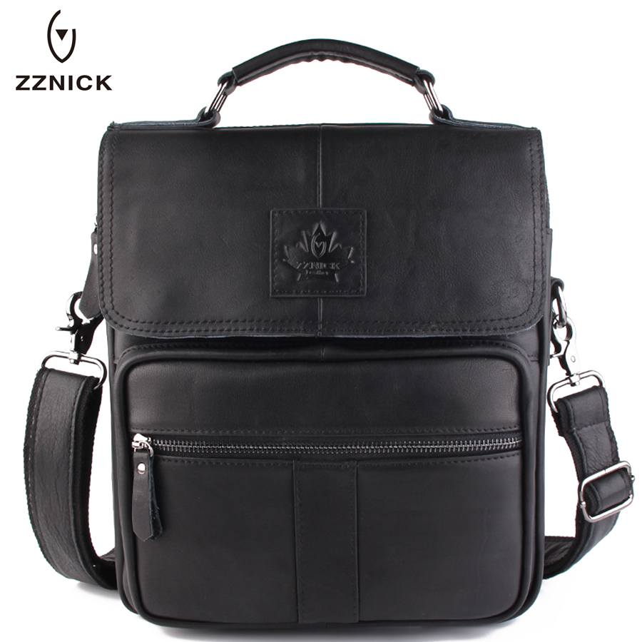 ZZNICK 2017 New Fashion Men Bags Briefcase Genuine Cowhide Leather Messenger Bag Design Male Crossbody Shoulder Bag Mens Handbag zznick 2017 new men genuine leather messenger bag male cowhide leather cross body shoulder bag vintage men bags handbag