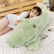 New Big Size Crocodile Lying Section Plush Pillow Mat Plush Crocodile Soft Stuffed Animal Toy Cartoon Plush Dolls Kids Girl Gift