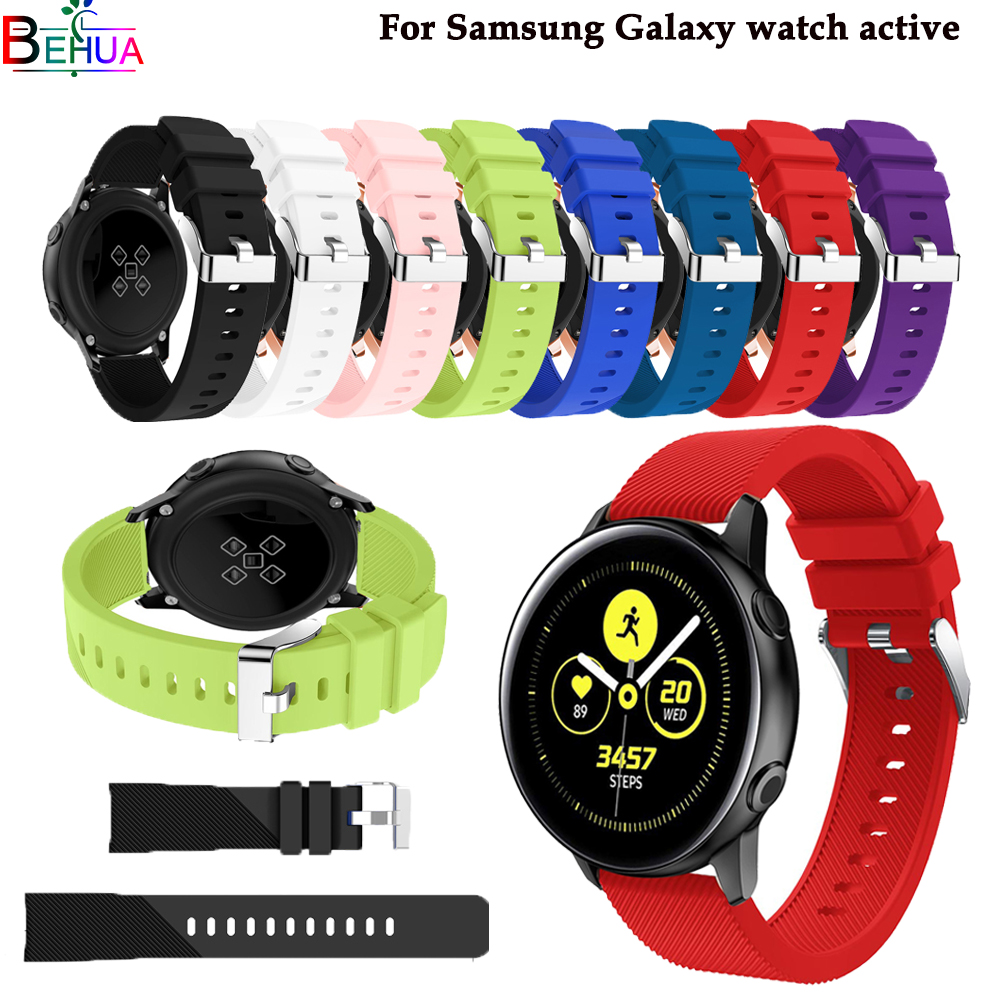 Silicone Watch Band For Galaxy Watch Active Smart Watch Replacement Strap Wristband For Samsung Galaxy 42mm For Samsung Gear S2