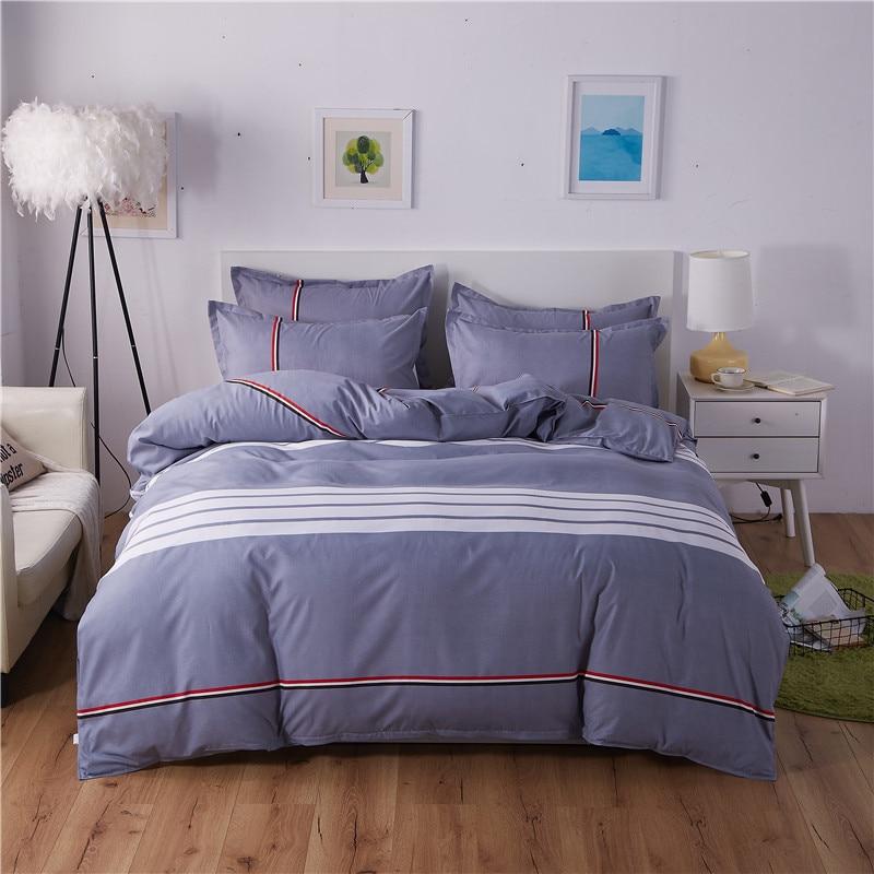 Textile à la maison aloès pur coton literie respectueuse de la peau quatre pièces processus d'impression active et de teinture motif géométrique de haute qualité