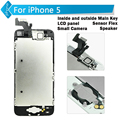 For iPhone 5 5C 5S lcd screen display touch digitizer assembly with Main Key, LCD Panel, Speaker, Small Camera, Sensor Flex