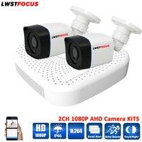 LWSTFOCUS 4CH AHD DVR Security CCTV System 20M IR 2PCS 1080P CCTV Camera Outdoor Waterproof Camera