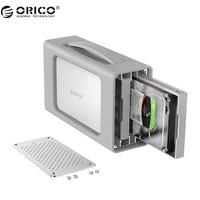 ORICO 2 Bay алюминиевый сплав type C жесткий диск корпус с Raid и силиконовый чехол поддержка 20 ТБ хранение 3,5 дюймов док станция