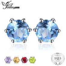 hot deal buy jewelrypalace natural blue topazs earrings stud genuine 925 sterling silver jewelry new women jewelry outstanding fine jewelry