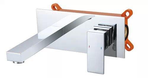 2015 Torneira Para Banheiro Tap German Dark Wall Mounted Basin Mixer Full of Hot And Cold Water Copper Wash Faucet