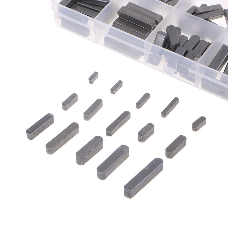 140pcs Round Ended Feather Key Parallel Drive Shaft Keys Set 8mm 10mm 12mm 16mm 20mm 25mm 30mm Hardware With Box