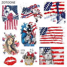 ZOTOONE Stripes Iron on Transfer Patches Clothing Diy Flag Dog Patch Heat for Clothes T-shirts Girl Sticker I