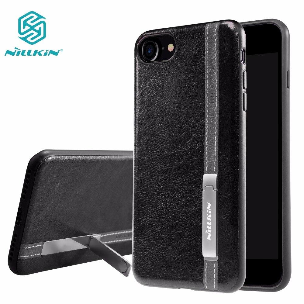 Nillkin Phenom Béquille Stand De Luxe Cas de Couverture Arrière pour iPhone 7/iphone 7 plus étui de protection avec feuilles De Fer