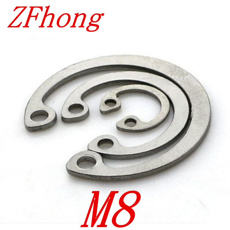 50pcs 304 Stainless Steel SS DIN472 M8 C Type Snap Retaining Ring For 8mm Internal Bore Circlip