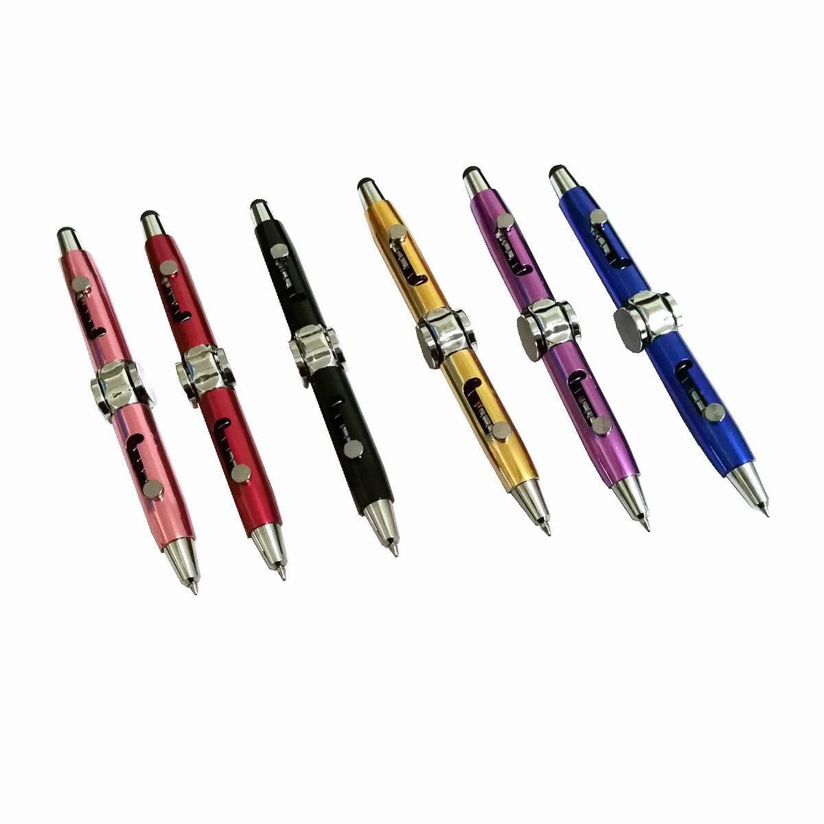 Пальца ручка многофункциональная декомпрессии игрушки Металлическая Ручка Непоседа ручка новинка Спиннеры шариковая ручка