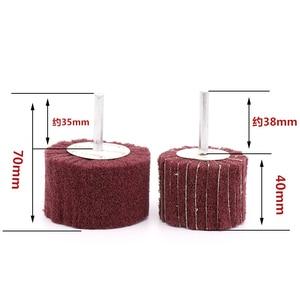 Image 3 - 6mm מברשת הגעלה כרית שוחק גלגל ניילון סיבי טחינת מלטש ראש מרוט ליטוש גלגל סיבי טחינת גלגל עבור Dremel