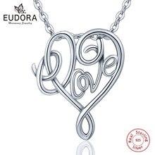 60215c603d25 Eudora de Plata de Ley 925 de los Celtics nudo amor estilo COLLAR COLGANTE  con cadena corazón S925 joyas para chica regalos Coll.