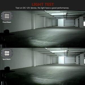 Image 5 - Barre lumineuse de travail, projecteur, pour voiture hors route, ATV UTV Kamaz UAZ 4x4, éclairage antibrouillard pour voiture, 18W LED de phare de voiture