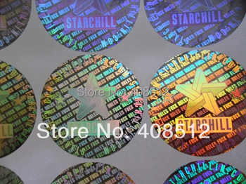 Counterfeit silver gold material holographic sticker custom logo made and printing hologram seal stickers