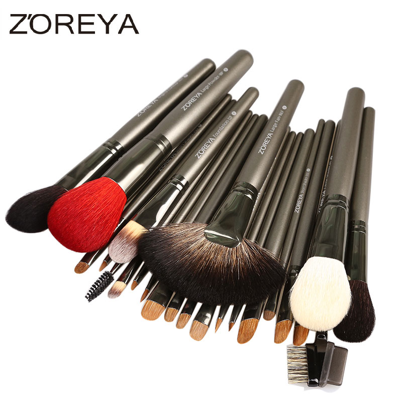26pcs Professional Makeup Brushes Sets Kolinsky Hair Foundation Blush Eyeshadow Make Up Brush Cosmetic Tool Kits Maquiagem maquiagem professional foundation makeup brush wooden soft hair round powder blush make up brushes cosmetic tool high quality