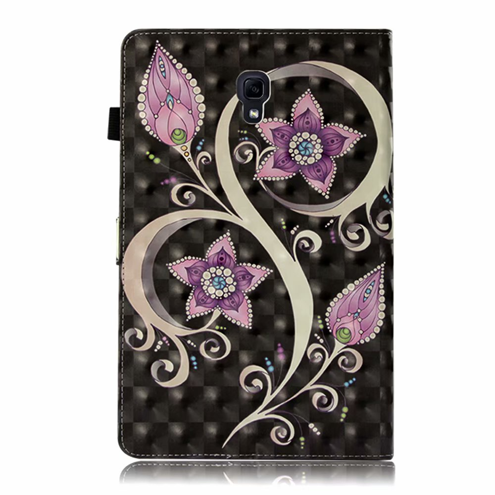 For Samsung Galaxy Tab S4 10.5 T830 T835 Case Flower Cartoon Card Holder Leather Smart Flip Cover Full Protective Fashion