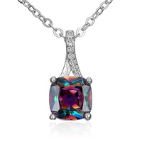 Manufacturers Supply Jewelry Pendant Necklace Zircon Colorful Necklace For Fashion Fashion
