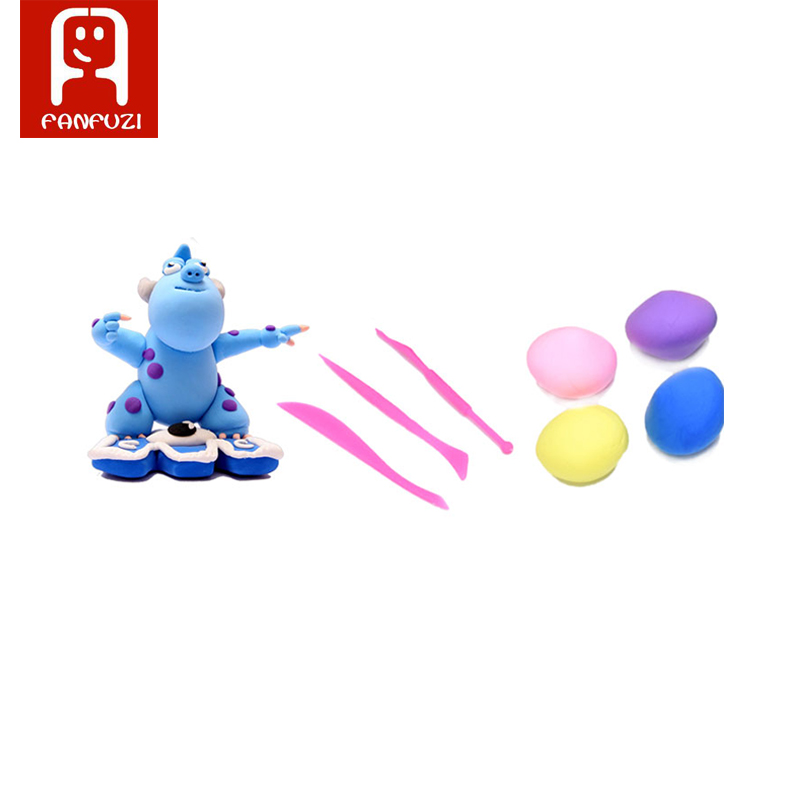 3pcs/set Intelligent Plasticine Play dough Modeling Mould Tools Toys Clay Polymer Mold Kids Toy 3D Plastic