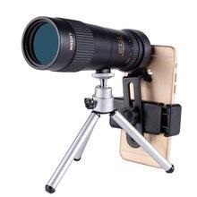 Luxun 10-30X40 monocular zoom telescope high power telescopio low light night vision bak4 HD with Camera phone clip tripod