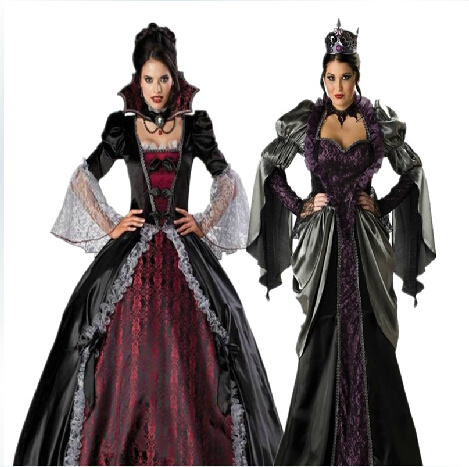 Masque Female Vampire Cosplay Dresses Halloween Uniforms Gothic Witch Costumes Zombie queen