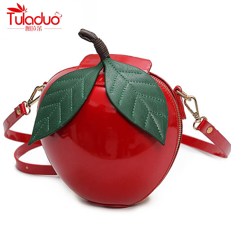 Fashion Circular Women Crossbody Bags High Quality Women Shoulder Bags Famous Brand Red Apple Bags Small Ladies Messenger Bags