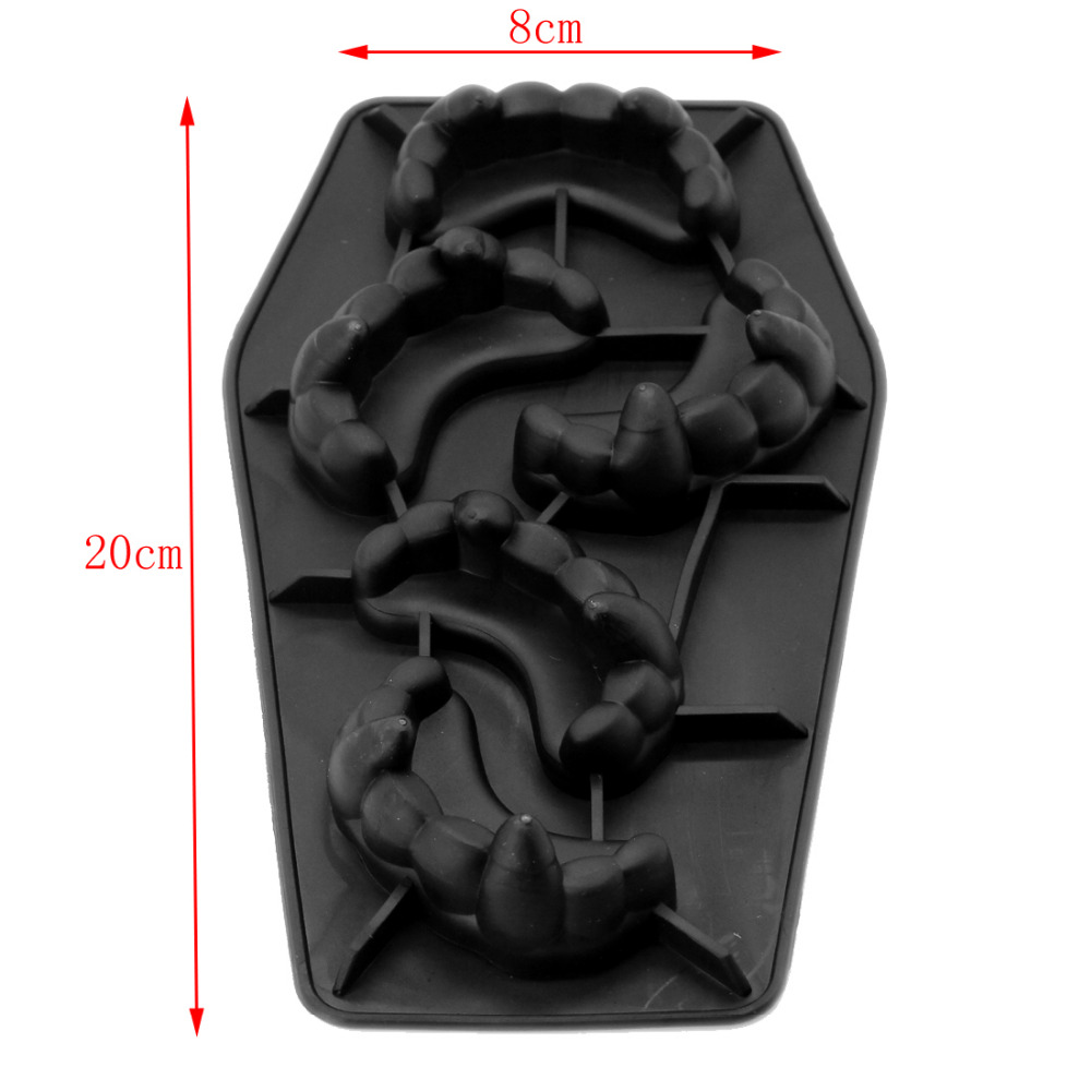 Free Shipping Tooth Mold Silicone Ice Cube Tools Ice Cream Ice Mold Cake Mould Cooking Tools