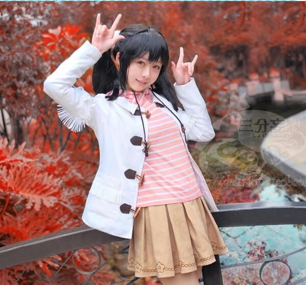 LoveLive! Ноя. sr кленовый лист Ядзава Нико Косплэй костюм повседневная одежда форма пальто + толстовка с капюшоном + юбка + головной убор