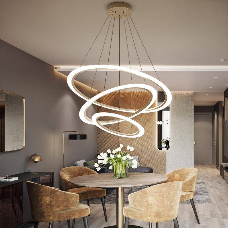 Modern chandelier acrylic lights Circles lamp for dinning room living room lampadario moderno Lustre Chandelier Lighting