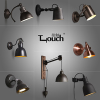 American retro industrial wind wall bar iron corridors living room balcony stairs adjustable lamp