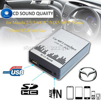 USB SD AUX Car Mp3 Music Adapter CD Changer For Mazda 2 3 5 6 MX